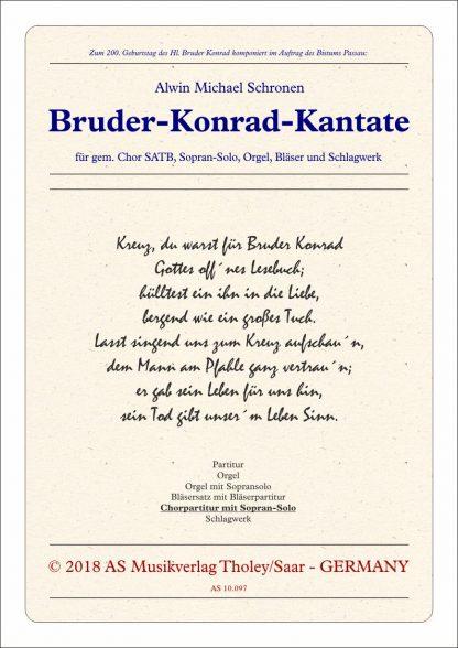 Bruder Konrad Kantate Chorpartitur